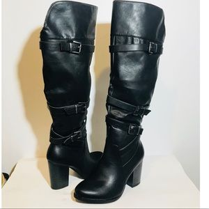 Black Womens Boots Size 7